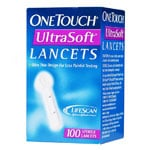 One Touch UltraSoft Glucose Lancets Box of 100