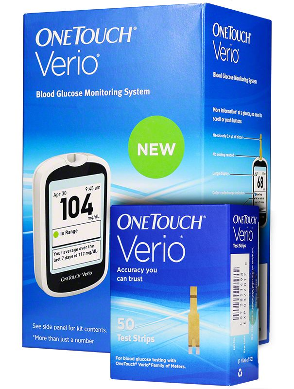 One Touch Verio Blood Glucose Monitoring System & 50 Strips