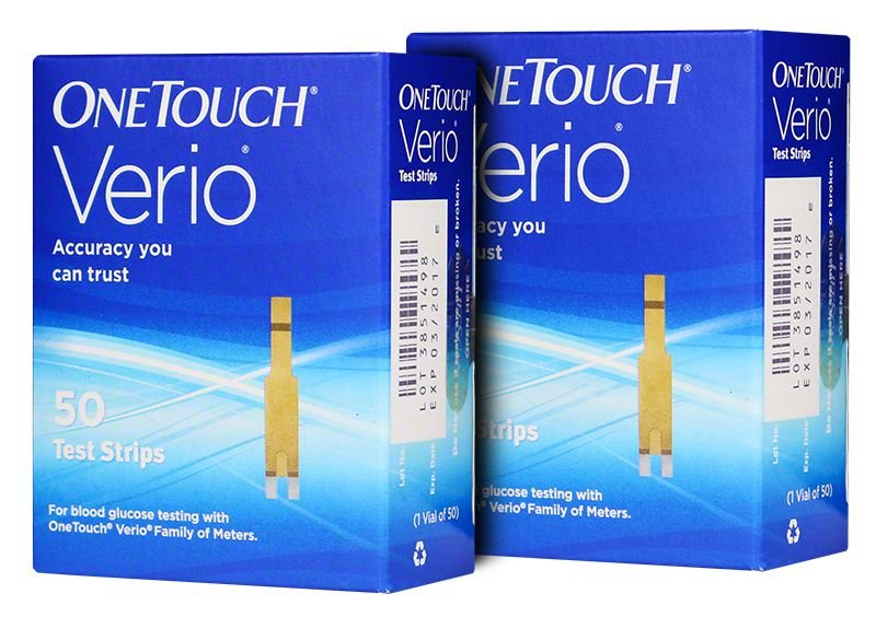 One Touch Verio Blood Glucose Test Strips Box of 100
