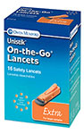 Owen Mumford Unistik 3 Extra Safety Lancets 21G 2mm box of 16