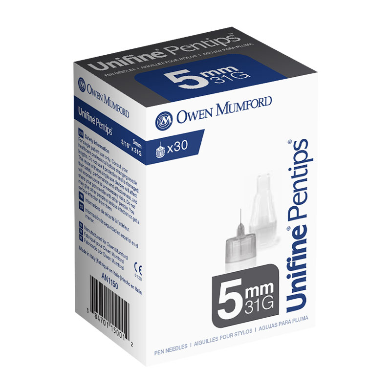 Owen Mumford Unifine Pentips 5mm x 31g 30/box AN1150
