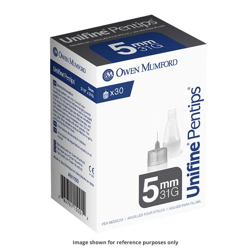 Owen Mumford Unifine Pentips 5mm x 31g 30/box AN1150 Pack of 6
