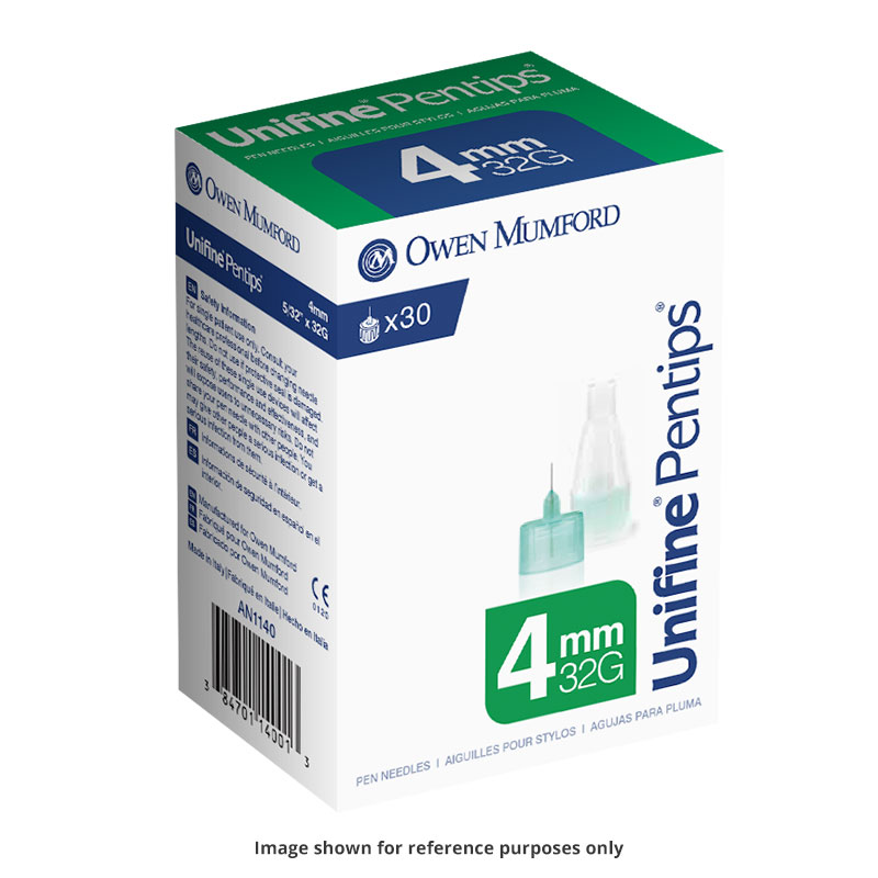 Owen Mumford Unifine Pentips 4mm x 32g 30/box AN1140 Pack of 6