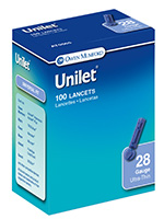Owen Mumford Unilet Ultra-Thin Lancets 28 Gauge Pack of 6