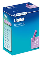 Owen Mumford Unilet Micro-Thin Lancets 33 Gauge Pack of 6