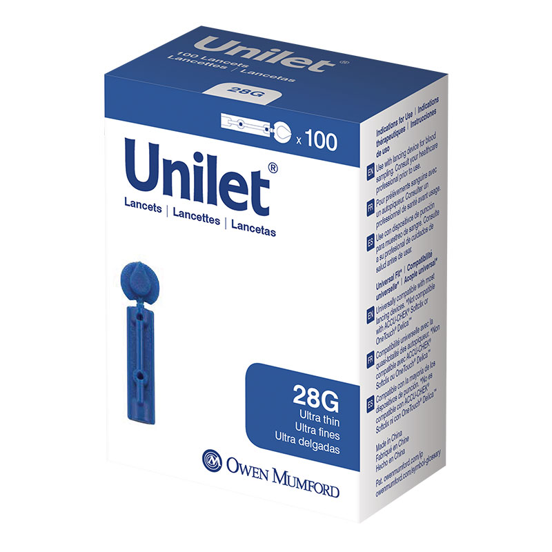 Owen Mumford Unilet Ultra-Thin Lancets 28 Gauge Pack of 3