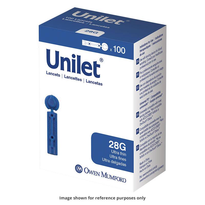 Owen Mumford Unilet Ultra-Thin Lancets 28 Gauge Pack of 6