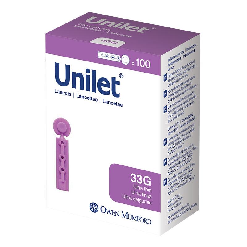 Owen Mumford Unilet Micro-Thin Lancets 33 Gauge