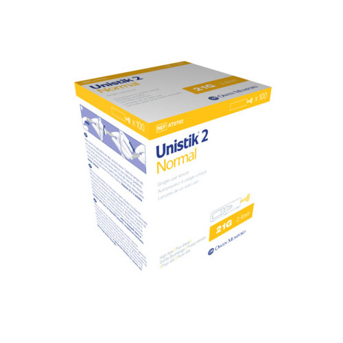 Owen Mumford Unistik 2 Normal Safety Lancets 100/bx