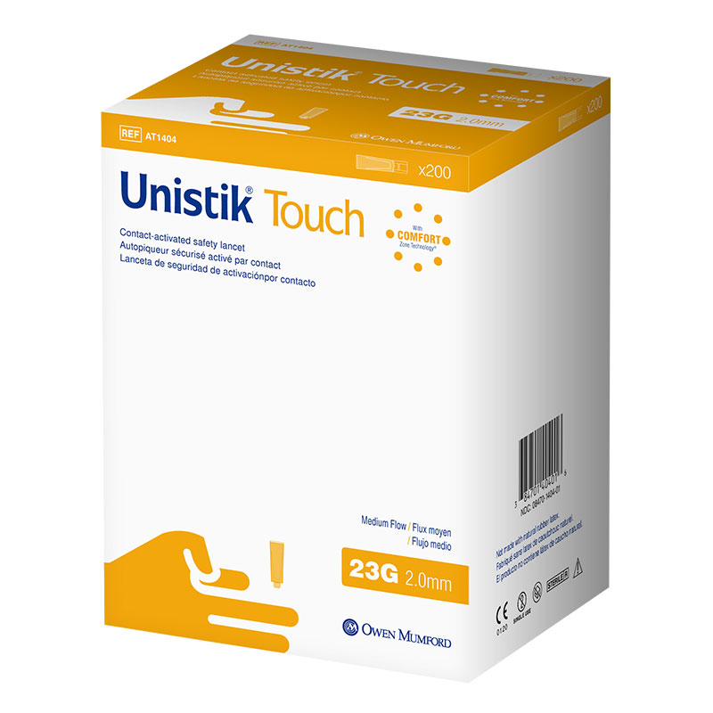 Owen Mumford Unistik Touch 23G 2mm - 200 Safety Lancets