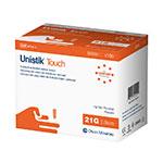 Owen Mumford Unistik Touch 21G 2mm - 100 Safety Lancets thumbnail