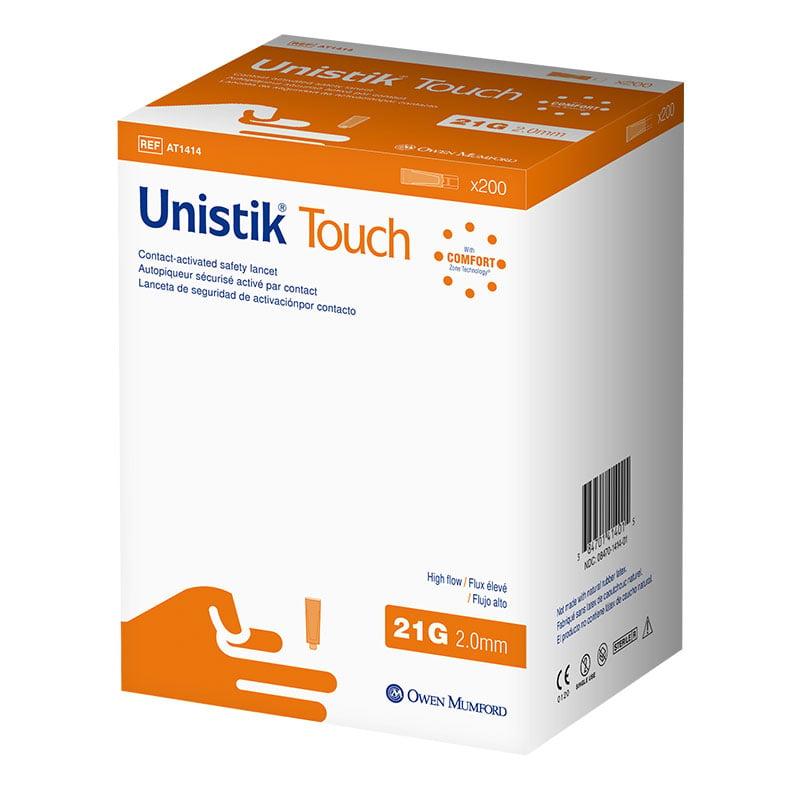 Owen Mumford Unistik Touch 21G 2mm - 200 Safety Lancets
