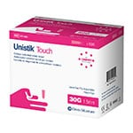 Owen Mumford Unistik Touch 30G 1.5mm - 100 Safety Lancets thumbnail