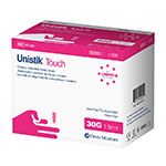 Owen Mumford Unistik Touch 30G 1.5mm - 100 Safety Lancets 3-Pack thumbnail