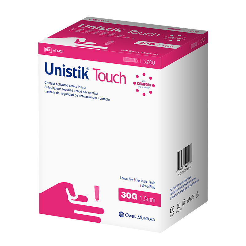 Owen Mumford Unistik Touch 30G 1.5mm - 200 Safety Lancets