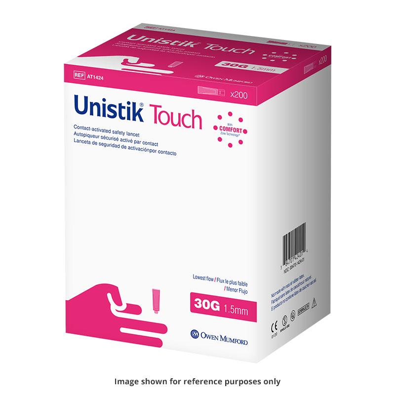Owen Mumford Unistik Touch 30G 1.5mm - 200 Safety Lancets 3-Pack