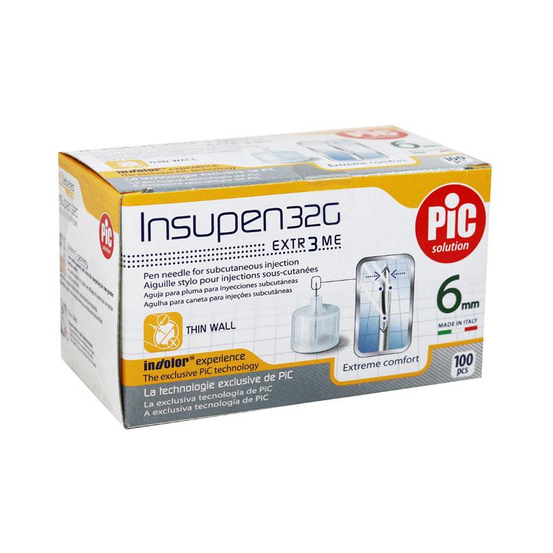 Insupen Insulin Pen Needles 32G, 6mm - 100ct