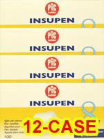 PiC Indolor Pen Needles 31g 8mm 100/bx Case of 12