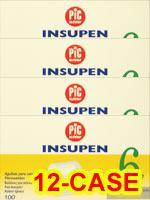 PiC Indolor Pen Needles 32g 6mm 100/bx Case of 12
