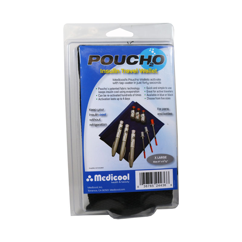 Poucho Diabetes Cooler Carry Case X-Large Black