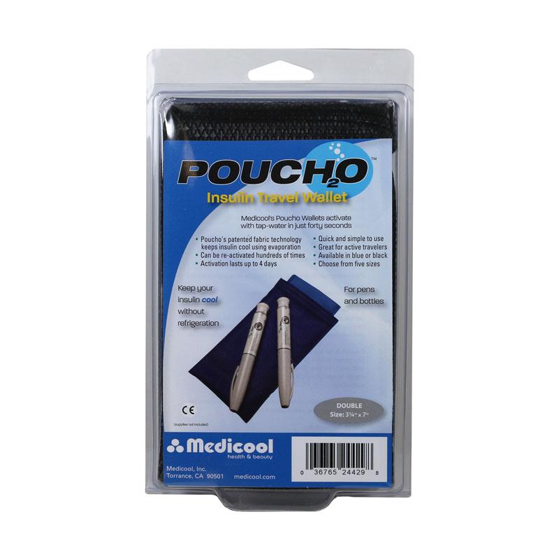 Poucho Diabetes Cooler Carry Case Double Pen Black