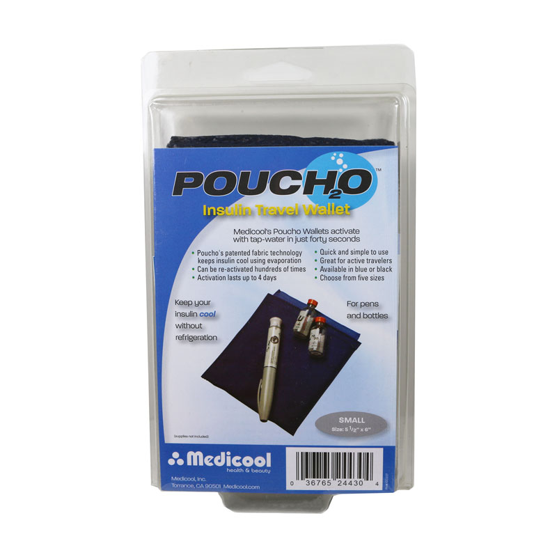 Poucho Diabetes Cooler Carry Case Small Blue