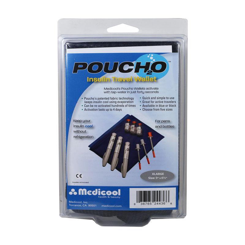 Poucho Diabetes Cooler Carry Case X-Large Blue