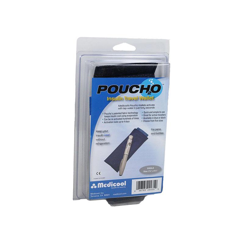 Poucho Diabetes Cooler Carry Case Single Pen Blue