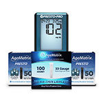Free AgaMatrix Presto Pro Meter with Purchase of 200 Strips & Lancets