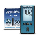 AgaMatrix Presto Pro Blood Glucose Meter Kit & 50 Strips thumbnail