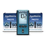 AgaMatrix Presto Test Strips Case of 48 Boxes and 12 FREE Pro Meters thumbnail