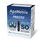 AgaMatrix Presto Blood Glucose Test Strips 50ct thumbnail