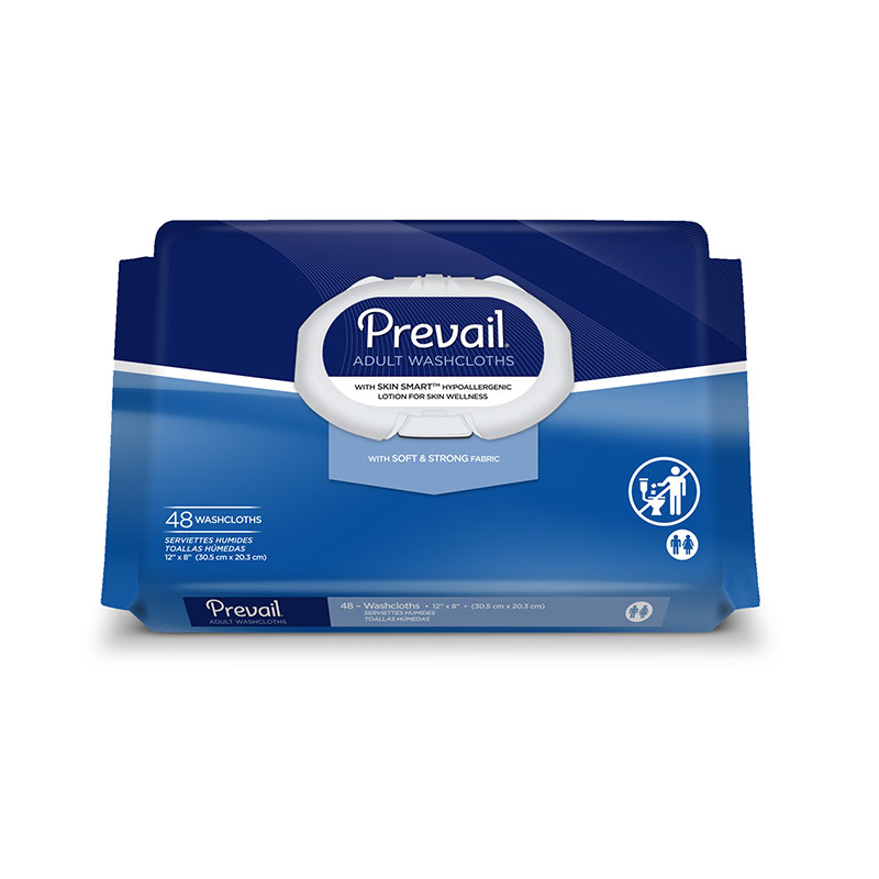 First Quality Prevail Adult Incontinent Wipes 12 inch x 8 inch WW-710 48/bag