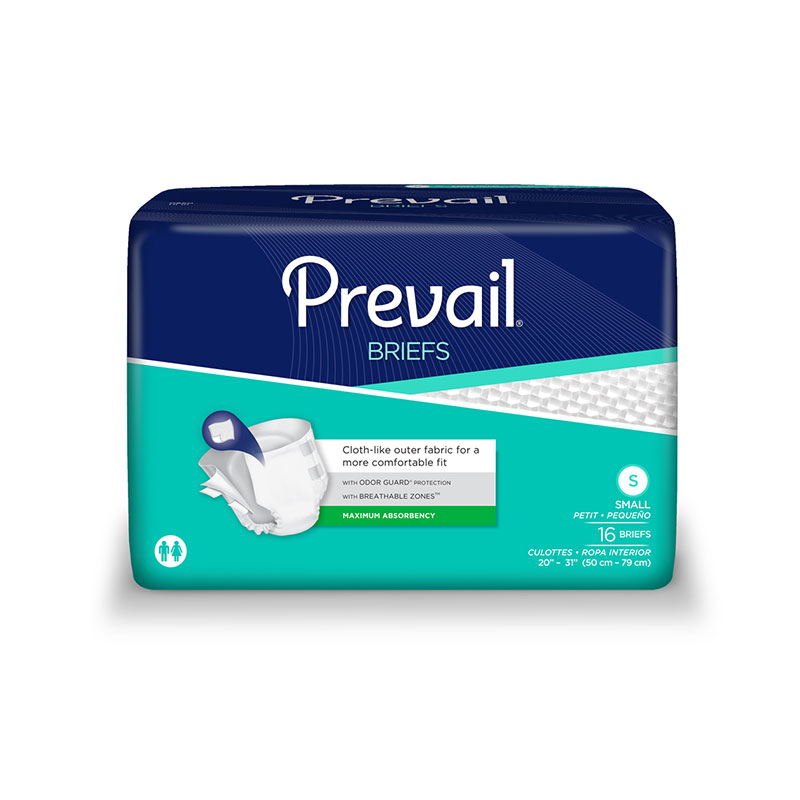 First Quality Prevail Premium Briefs Small 20-31 16/bag
