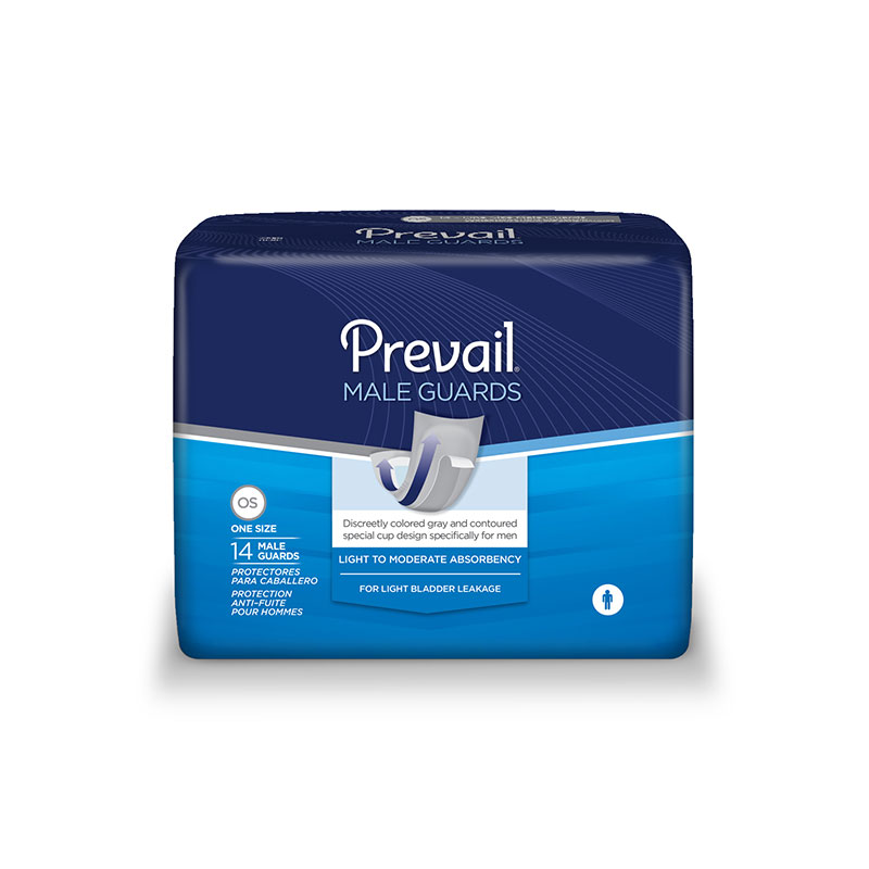 Prevail Male Guards w/Adhesive Strips White Latex Free 14/pk