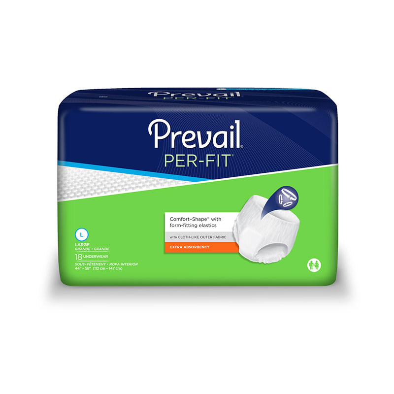 Prevail Per-Fit Protective Underwear, Large Sold By Bag of 18