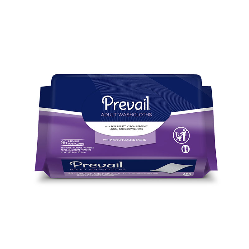 Prevail Premium Washcloth Refills (96 Cloths)