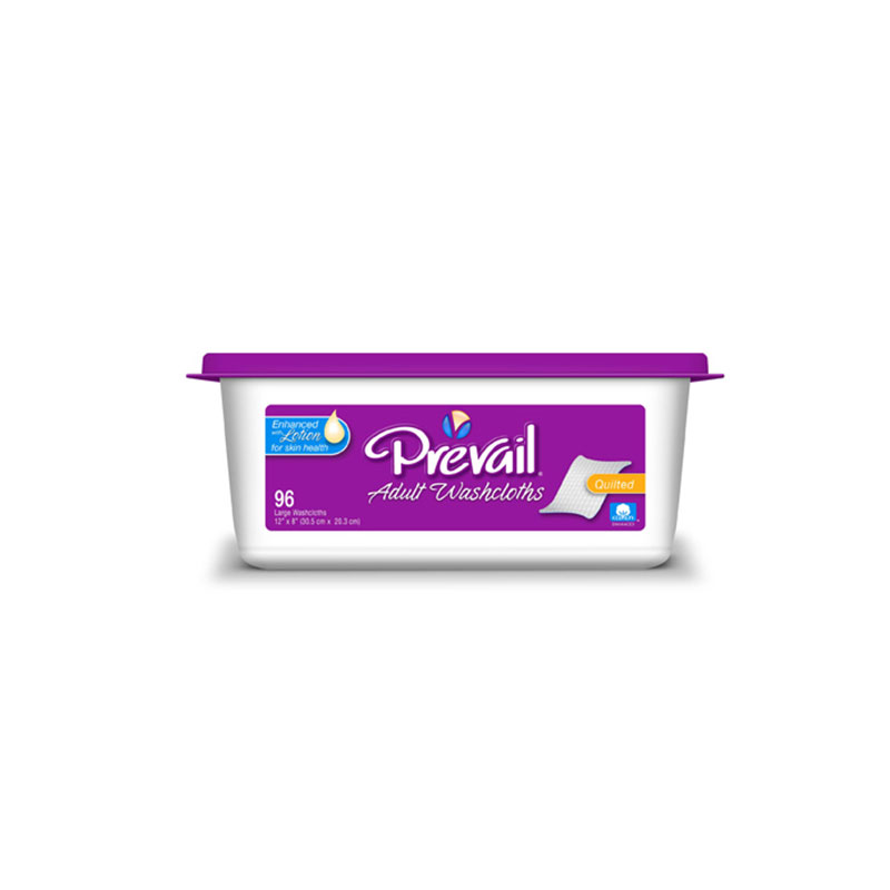 Prevail Premium Adult Incontinence Washcloths , 12