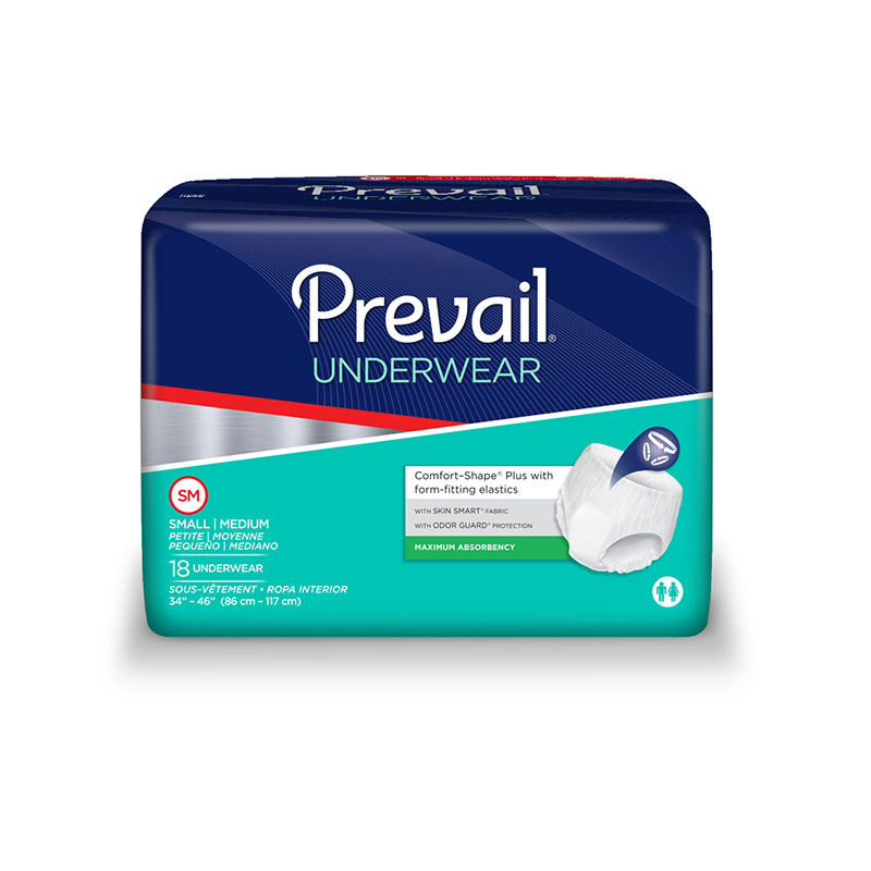 Prevail Super Plus PVS-512 Underwear S/M (34-46 inch) case of 72