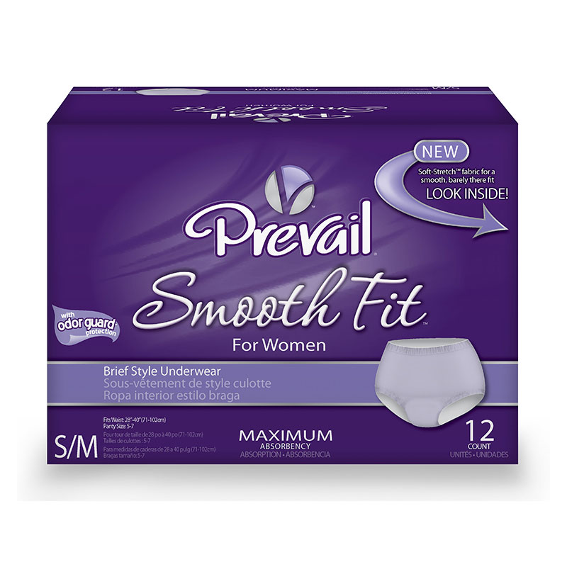 First Quality Prevail SmoothFit Underwear SM/MD 28 inch -40 inch PSF-512 48/cs