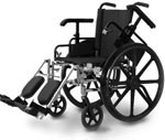 "Probasics Economy 18"" High Performance Wheelchair w/Padded Footrests thumbnail"