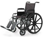 Probasics Economy 18 Inch High Performance Wheelchair w/Fixed Full Arm