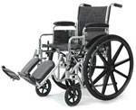 Probasics Standard DX Wheelchair w/Aluminum Swing Footrests