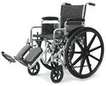 Probasics Standard DX Wheelchair w/Padded Leg Rests