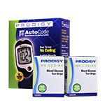 Prodigy Blood Glucose Test Strips 100/bx w/ Meter Kit thumbnail