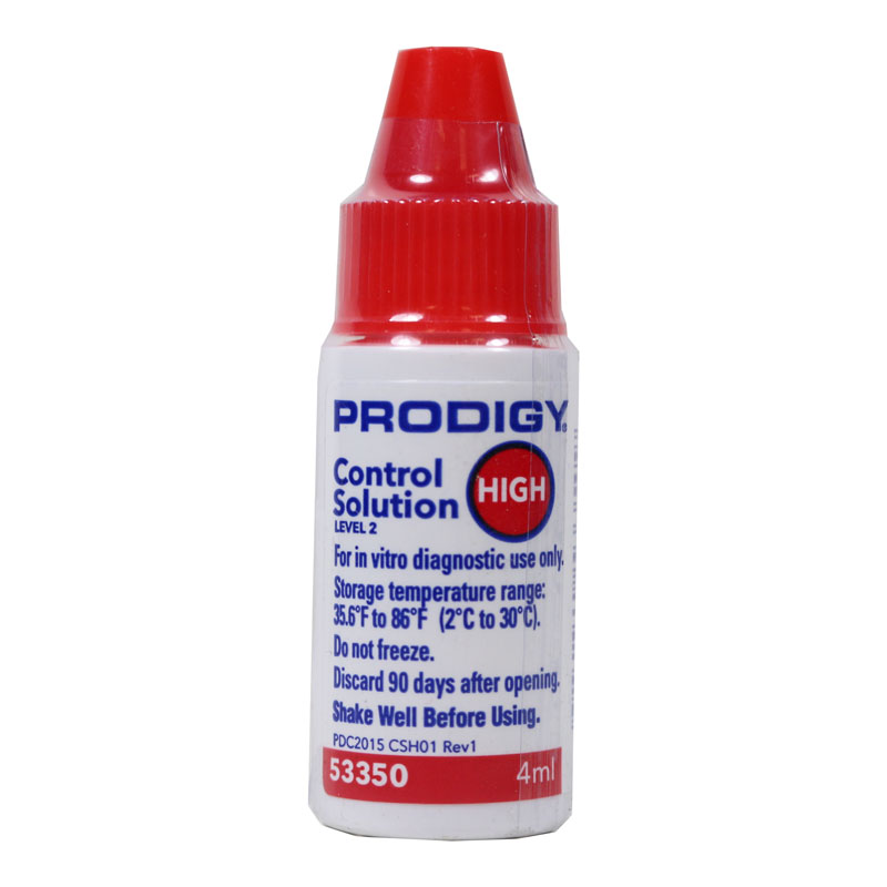 Prodigy Glucose Control Solution High - 1 Vial 4ml