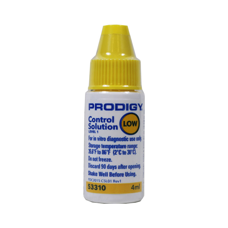Prodigy Glucose Control Solution Low - 1 Vial 4ml