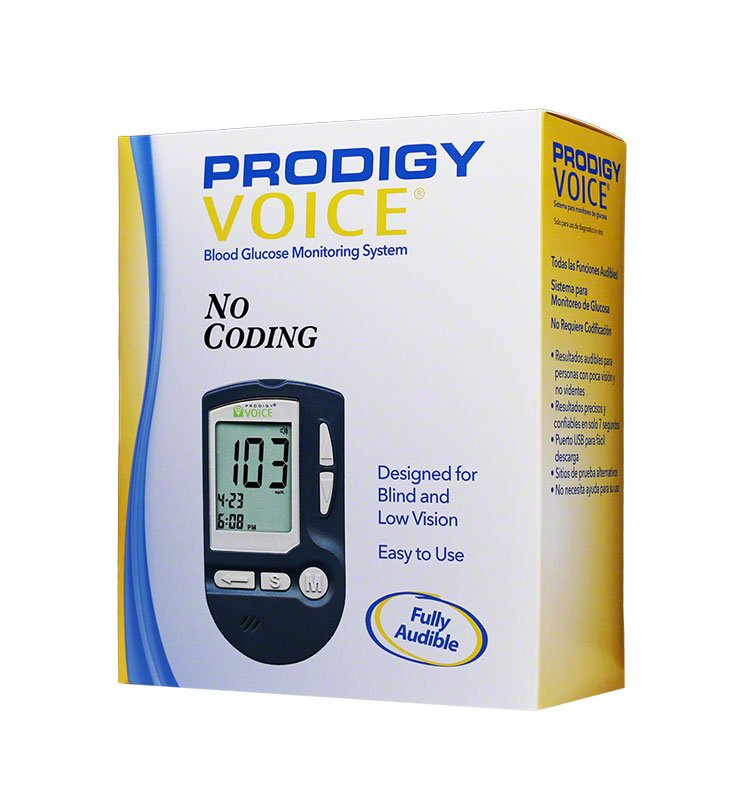 Prodigy Voice Blood Glucose Monitoring System Glucose Meter