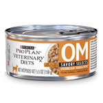 Purina Veterinary Diets OM Savory Selects For Cats 24/5.5oz Cans