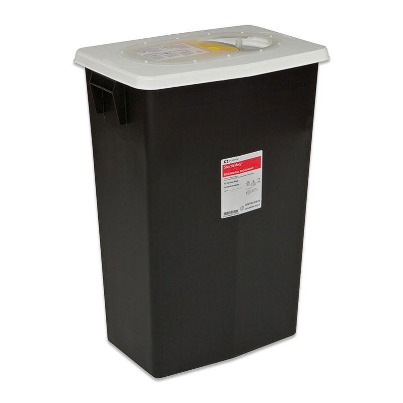 SharpSafety RCRA Hazardous Waste Container 18 Gallon Black - 5ct